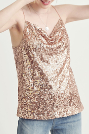 Wishlist  Sparkle Sequin Tank - Front cropped