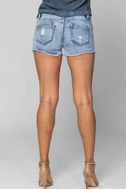 Sparkle Silver Mosaic Shorts - Side cropped