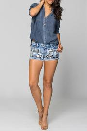 Sparkle Silver Mosaic Shorts - Front cropped