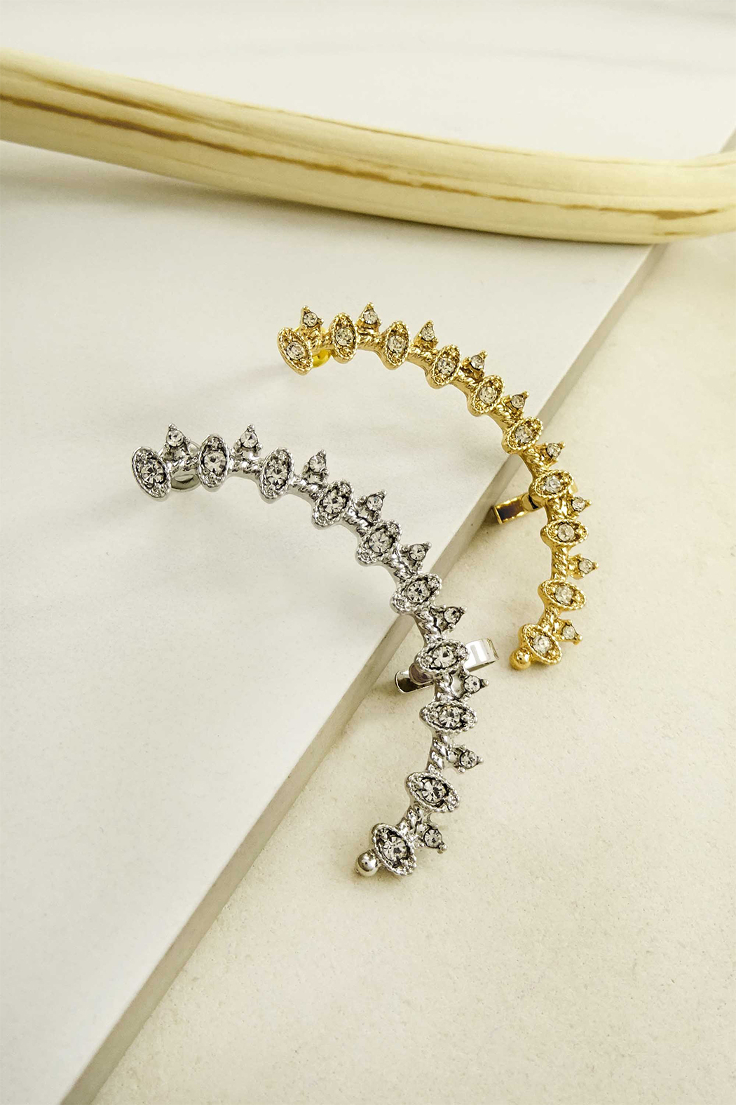 LA3accessories Sparkle Star Ear Cuffs - Front Cropped Image