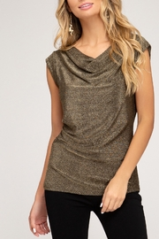 She + Sky Sparkle The Way Top - Front cropped