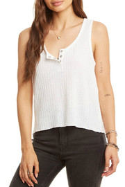 Chaser Sparkle Thermal Flouncy Henley Tank - Product Mini Image