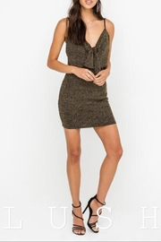 Lush Sparkle Tie-Front Dress - Product Mini Image