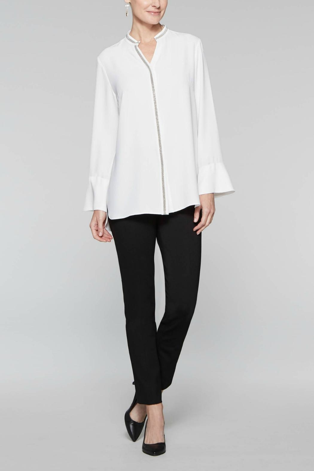 Misook Sparkle Trim Blouse - Main Image