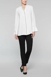 Misook Sparkle Trim Blouse - Front cropped