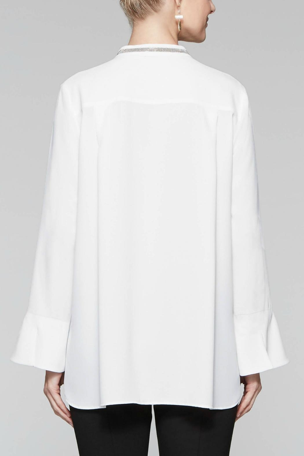 Misook Sparkle Trim Blouse - Back Cropped Image