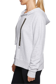 Betsey Johnson Sparkle Trim Hoodie - Front full body