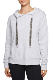 Betsey Johnson Sparkle Trim Hoodie - Product Mini Image