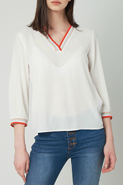Best Mountain Sparkle Vneck Blouse - Front cropped