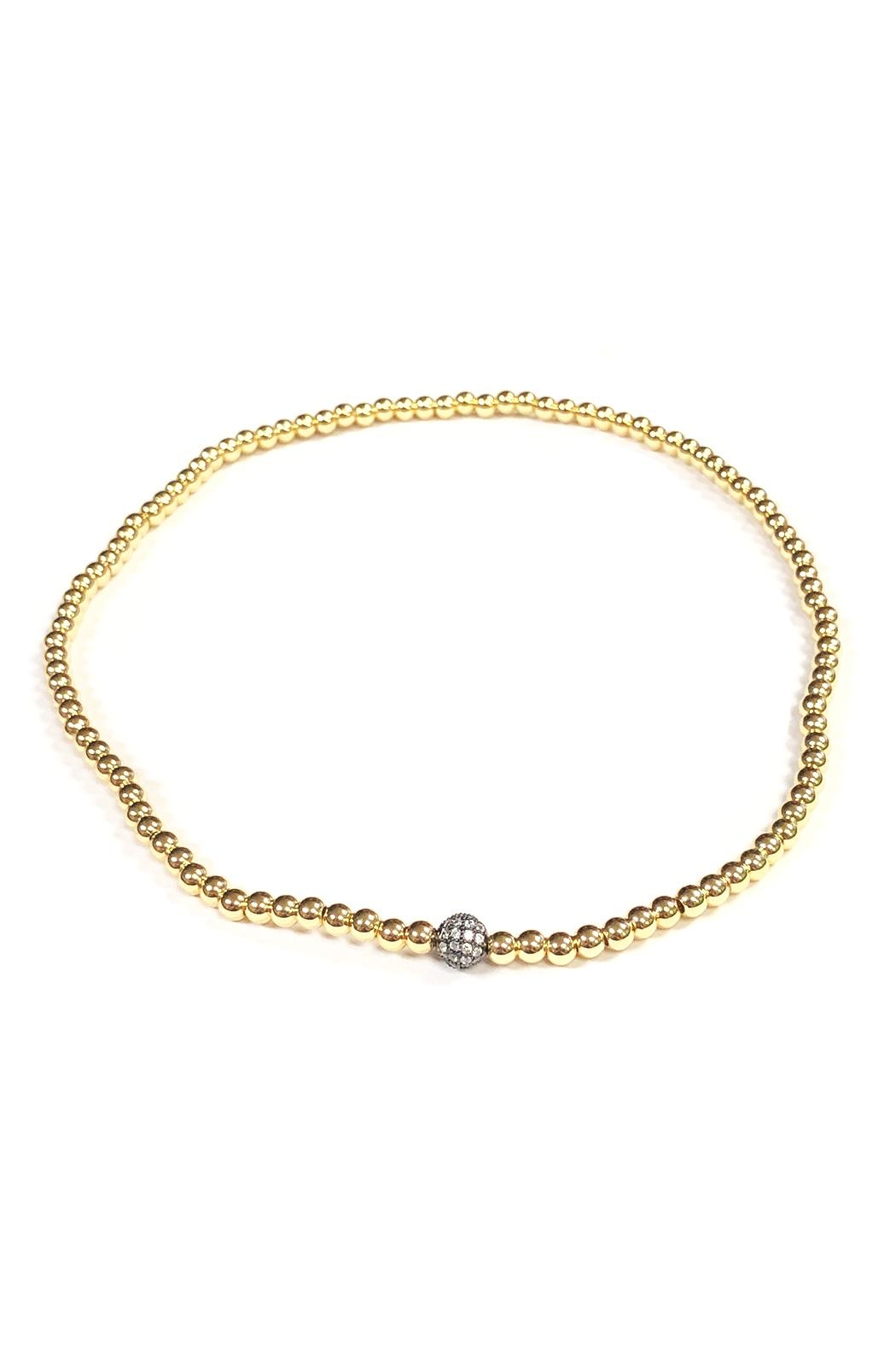 Lovely Lisa Sparkling Ball Choker - Front Cropped Image