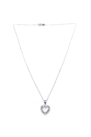 Blue Sky Sparkling Bold-Heart Necklace - Product Mini Image