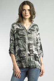 Tempo Paris Sparkling Camo Top - Product Mini Image