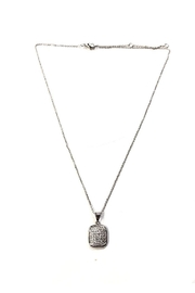 Lets Accessorize Sparkling Square-Charm Necklace - Front cropped