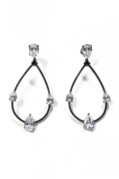 BeJe Sparkling Tear-Drop Earrings - Alternate List Image