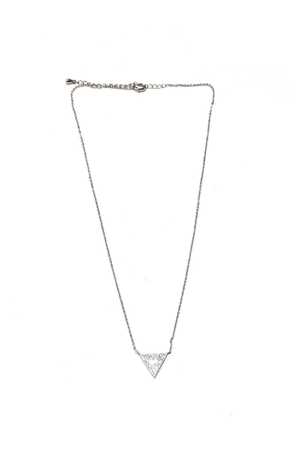 Lets Accessorize Sparkling Triangle Necklace - Main Image