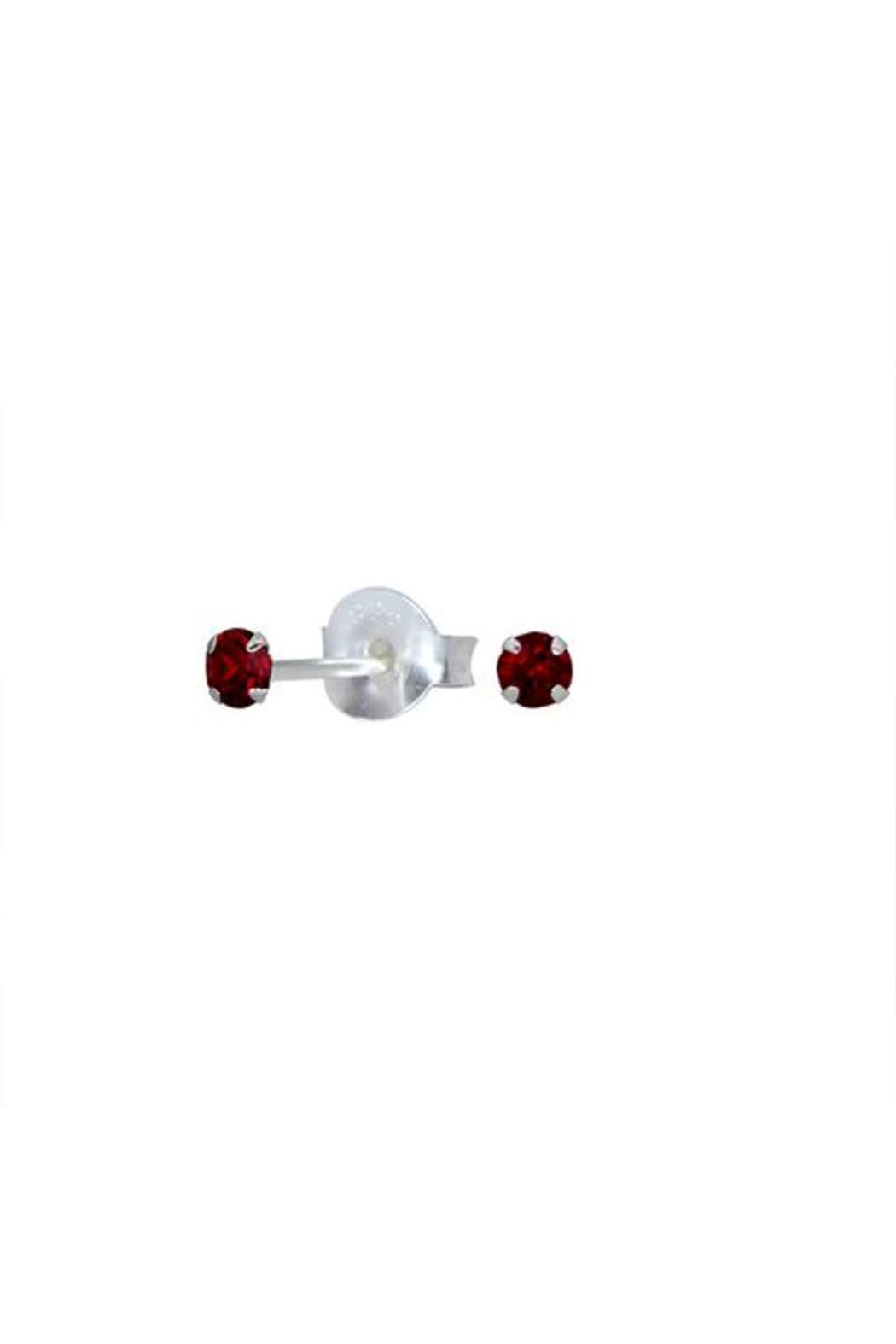 Something Silver Sparkly Birthstone Stud Earrings - Main Image
