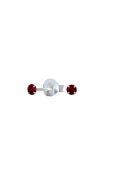 Something Silver Sparkly Birthstone Stud Earrings - Product List Image