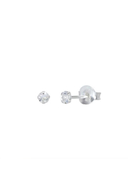 Something Silver Sparkly Birthstone Stud Earrings - Front cropped