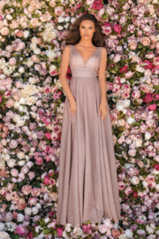 CLARISSE Sparkly Blush Gown - Front cropped