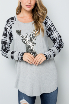 Shoptiques Product: Sparkly Deer Tee