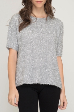 LuLu's Boutique Sparkly Knit Top - Product List Image