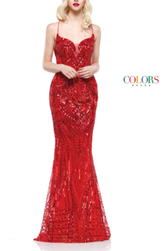 colors Sparkly Red Gown - Product List Image