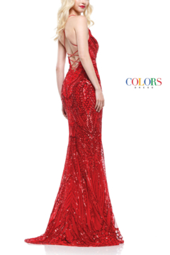 colors Sparkly Red Gown - Alternate List Image