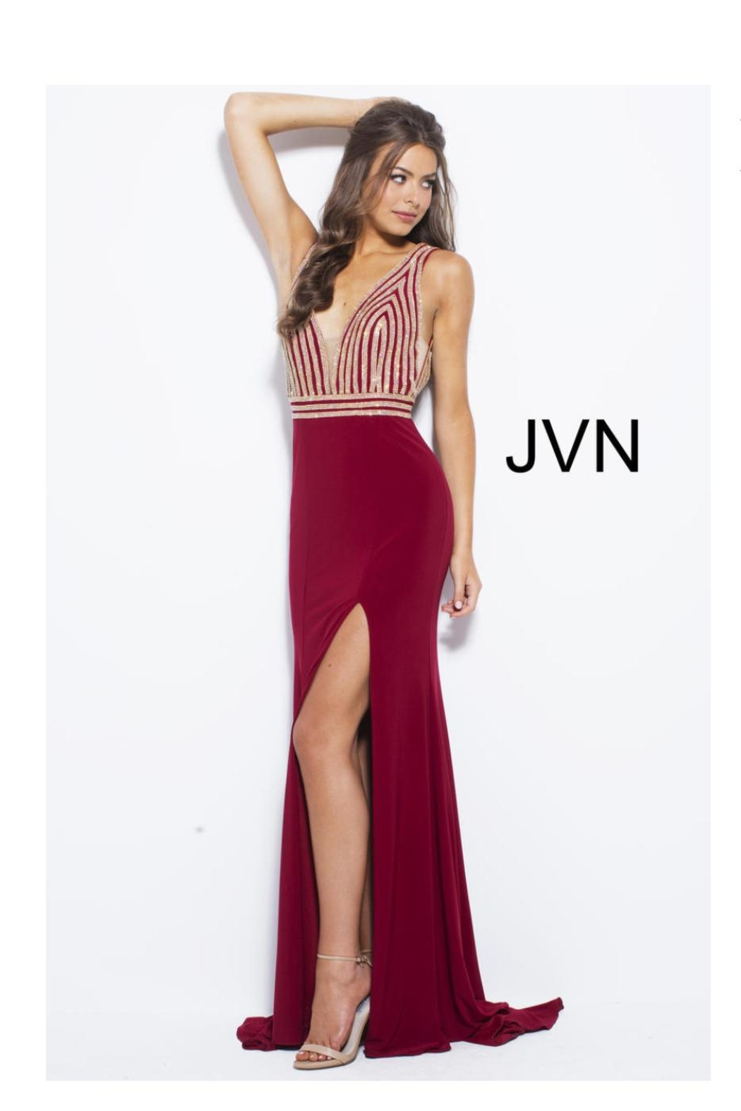 8da8608d40d Jovani Sparkly Red Gown from Guilford by A s Unique Boutique ...