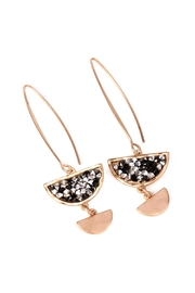 Riah Fashion Sparkly-Stone Drop Earrings - Front cropped