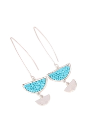 Riah Fashion Sparkly-Stone Drop Earrings - Product Mini Image