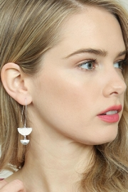 Riah Fashion Sparkly-Stone Drop Earrings - Side cropped