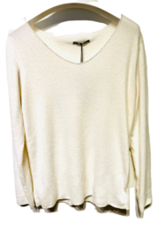 Angela Mara Sparkly Trim Sweater T - Front cropped