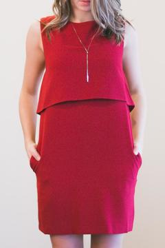 Sparrow Red Shift Dress - Product List Image