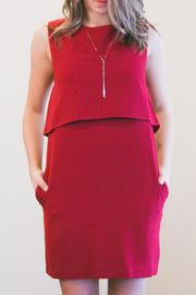 Sparrow Red Shift Dress - Product Mini Image