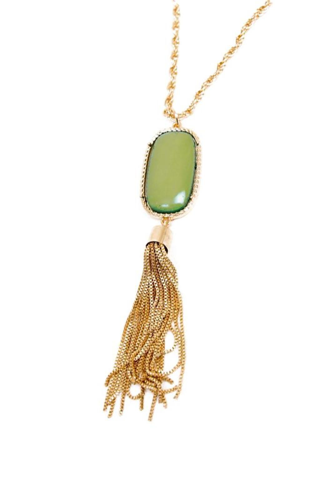 Sparrow stone tassel necklace from michigan by sparrow boutique sparrow stone tassel necklace front full image aloadofball Images