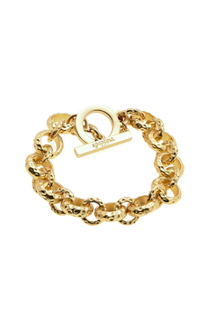 Shoptiques Product: Textured Link Bracelet