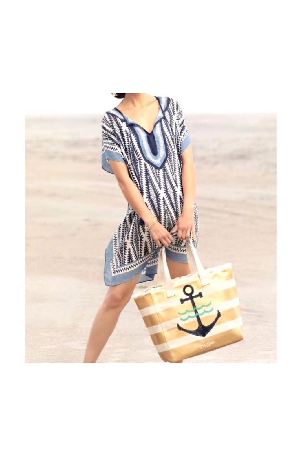 Spartina 449 Anchor Beach Tote - Side Cropped Image