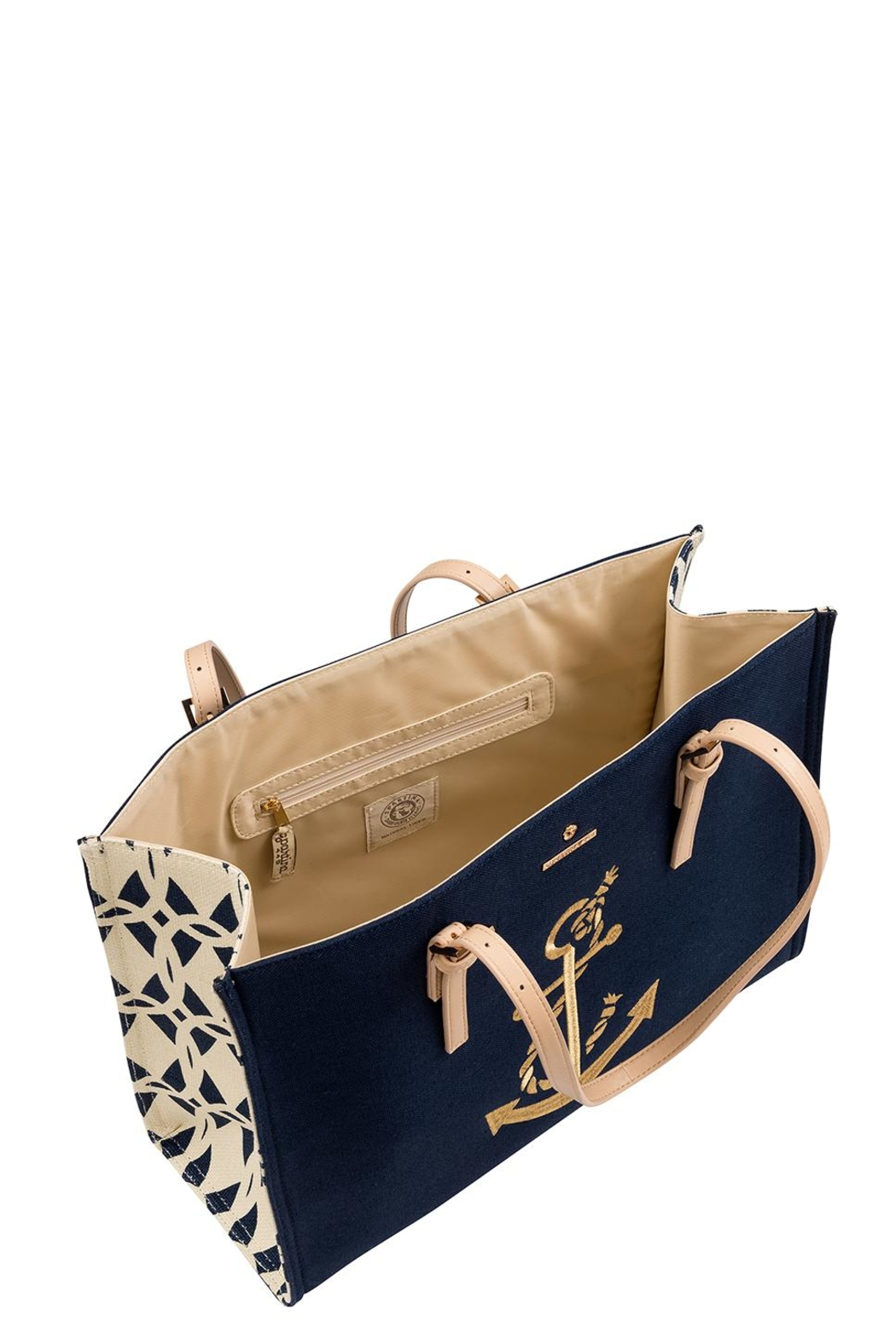 Spartina 449 Anchor Sand Tote Bag - Front Full Image