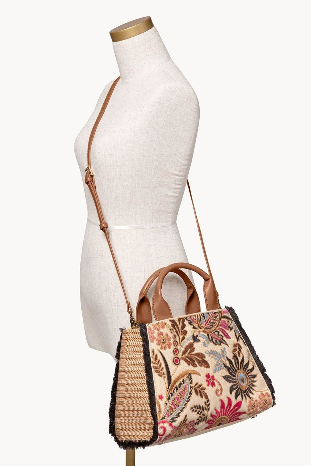 Spartina 449 Barbee Floral Satchel - Side Cropped Image