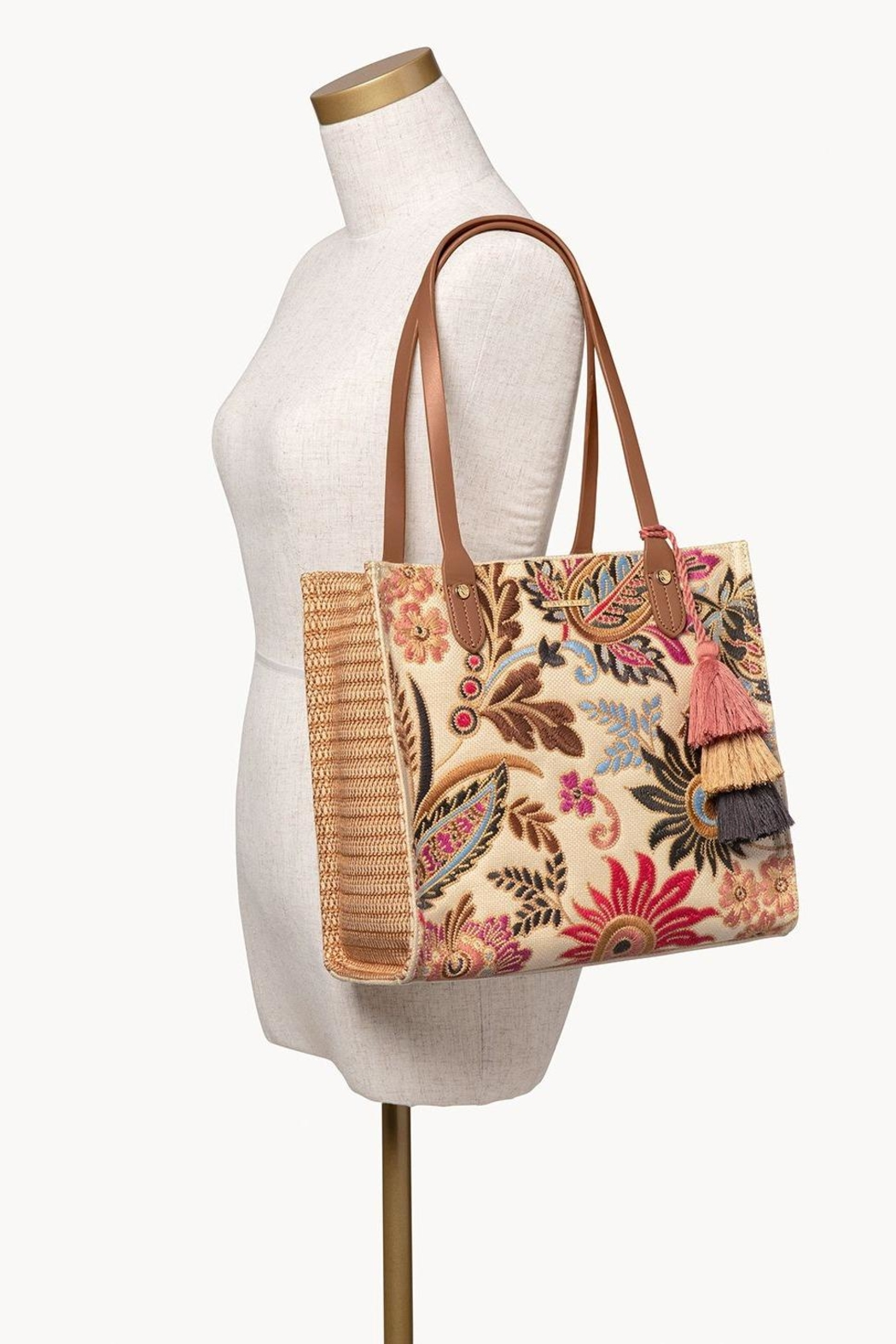 Spartina 449 Barbee Floral Tote - Side Cropped Image