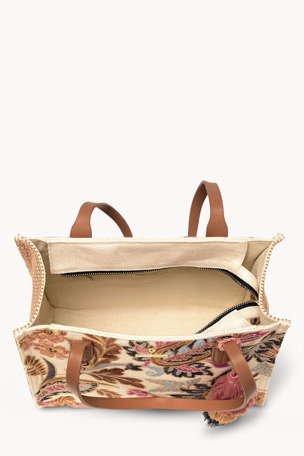Spartina 449 Barbee Floral Tote - Front Full Image
