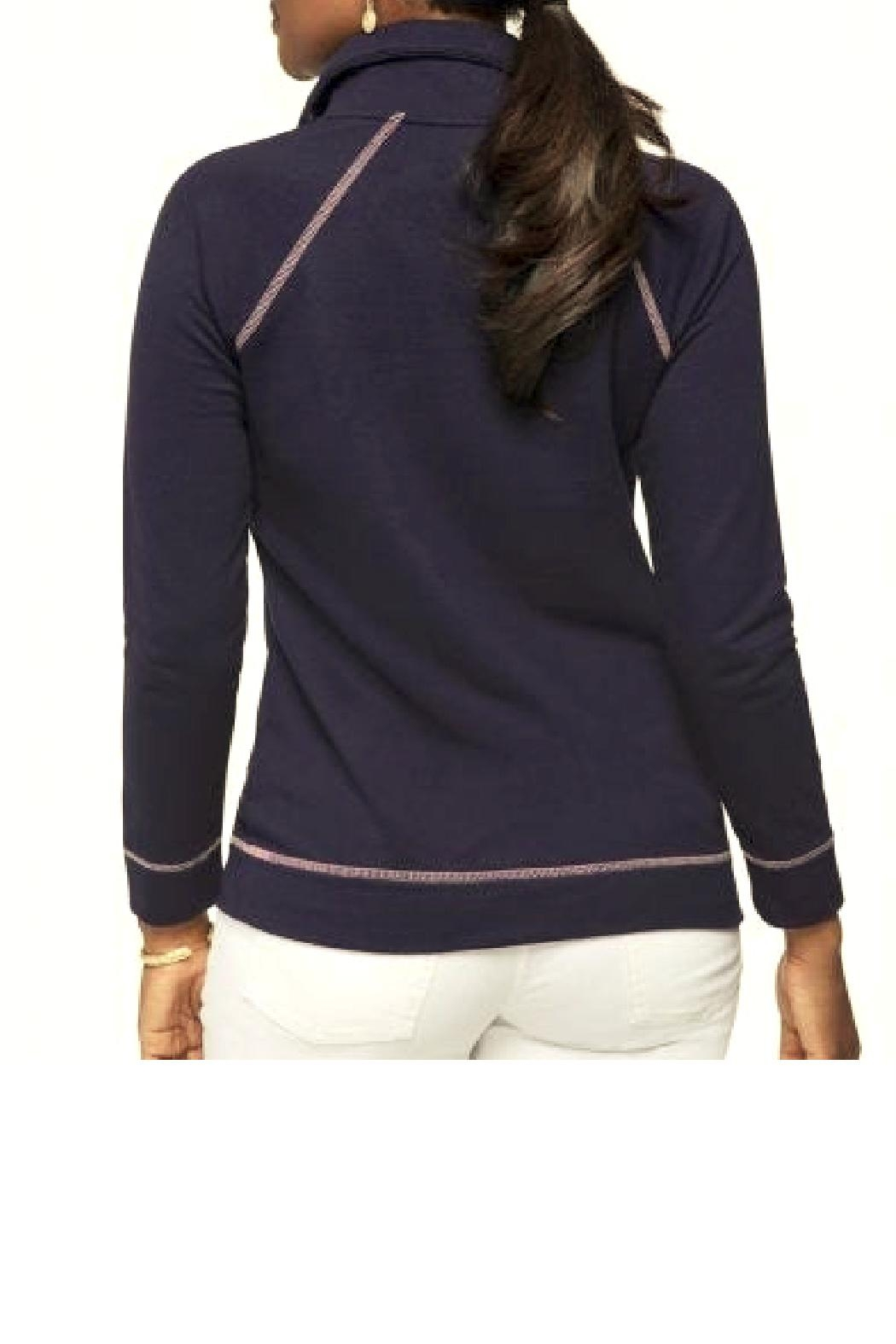 Spartina 449 Bay Point Half-Zip Top - Side Cropped Image