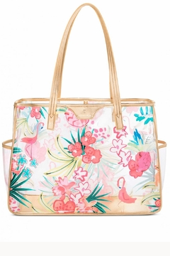 Shoptiques Product: Beach Tote Flamingo-Floral-Retreat