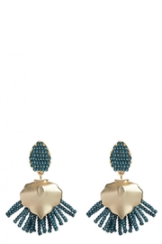 Spartina 449 Beaded Fringe Earrings - Front cropped