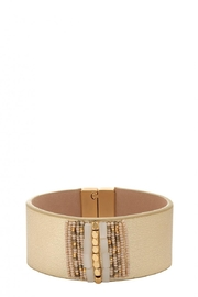 Spartina 449 Beaded Leather Wrap - Front cropped