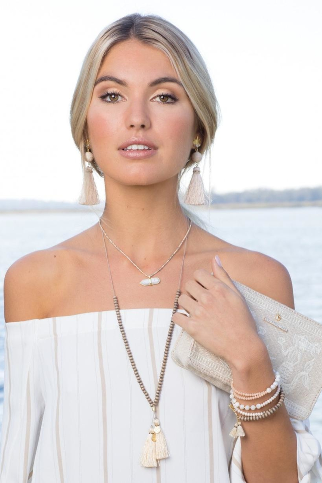 Spartina 449 Beaded Wrap - Front Full Image