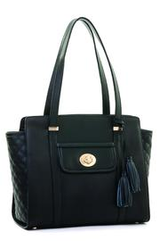 Spartina 449 Black Quilted Purse - Product Mini Image