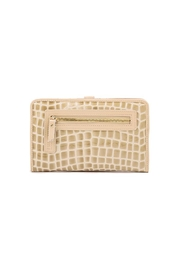 Spartina 449 Blonde Croc Snap Wallet - Front full body