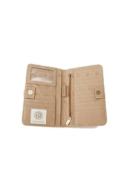 Spartina 449 Blonde Croc Snap Wallet - Side cropped
