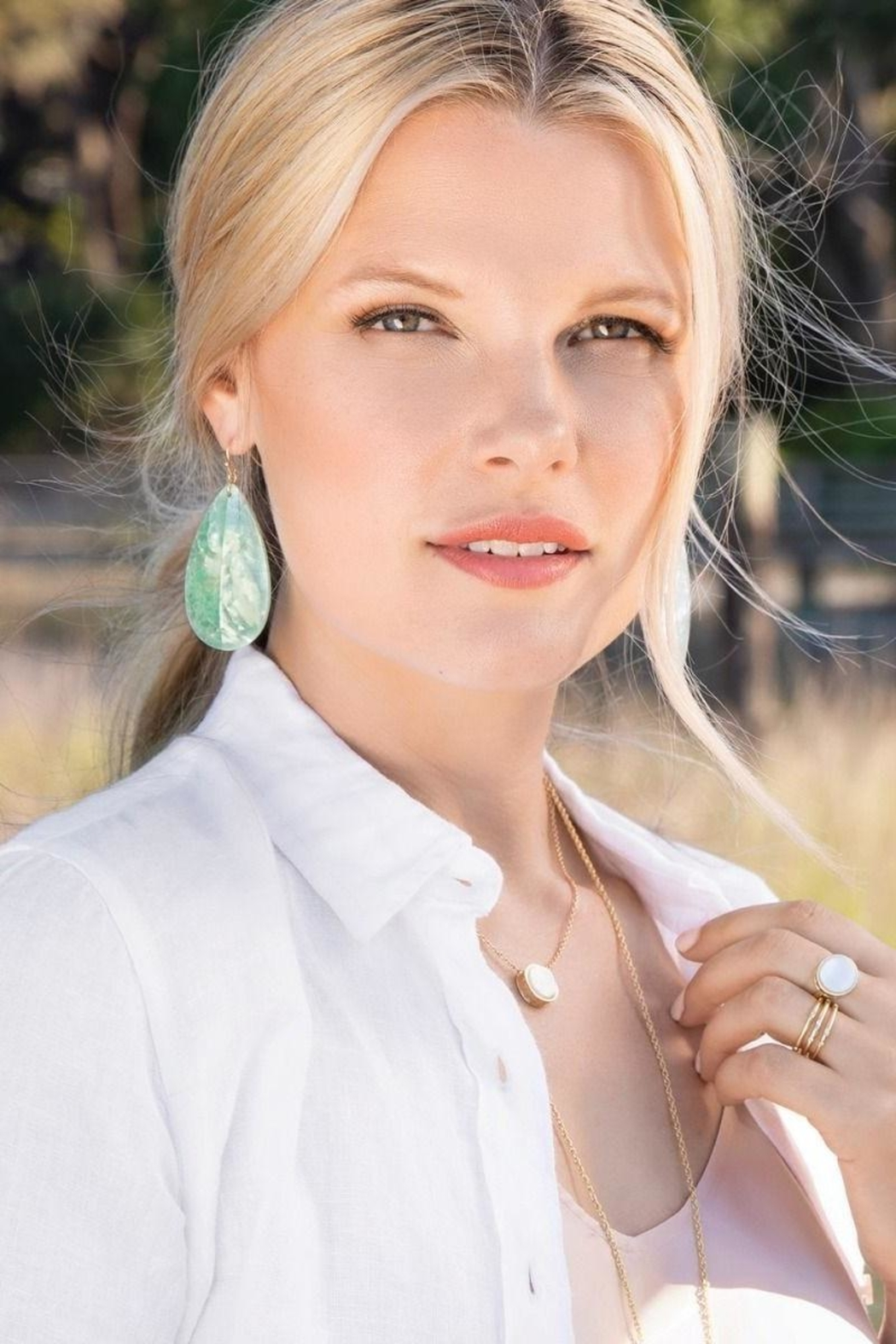 Spartina 449 Crushed Pearl Earrings - Front Full Image